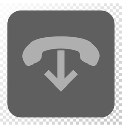 Phone Hang Up Rounded Square Button vector