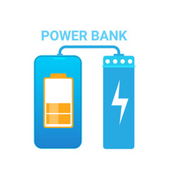 Power bank portable mobile charger device concept vector