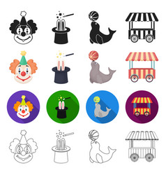 Rest entertainment circus and other web icon in vector