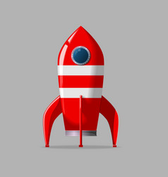 Retro rocket ship vector