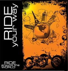 Ride around world vector