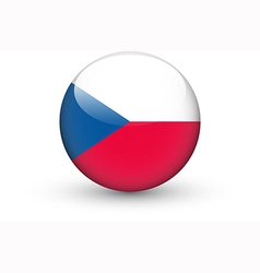 round icon with flag czech republic vector image