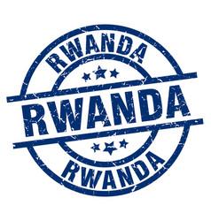 Rwanda blue round grunge stamp vector
