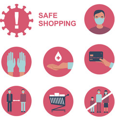 safe shopping during coronavirus outbreak vector image