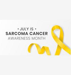 sarcoma cancer awareness month banner design vector image