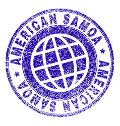 Scratched textured american samoa stamp seal vector