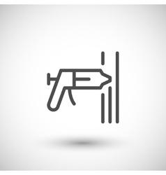 Sealant line icon vector