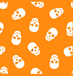 seamless pattern white skulls vector image