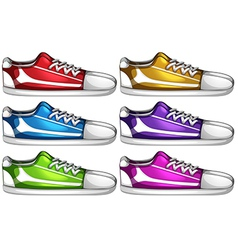 Set of casual shoes vector