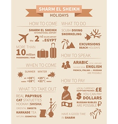 Sharm infographics vector