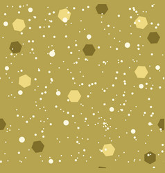 Snow pattern with hexagonal confetti seamless vector