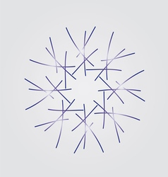 Snowflake on a grey background vector