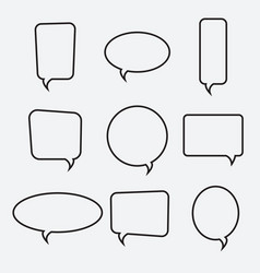 speech bubble linear icons collection vector image