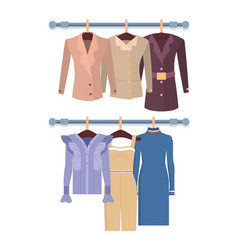 summer mode with dress jackets vector image