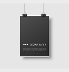 Template a paper sheet for poster and vector