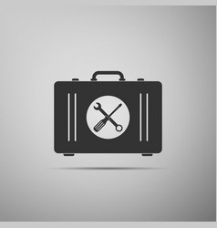 toolbox icon isolated on grey background vector image