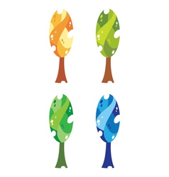 trees big vector image