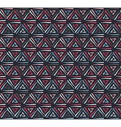 Triangle dark grunge seamless pattern vector image