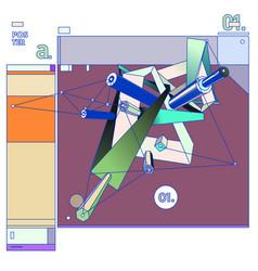 Triangle geometric design modern and memphis vector