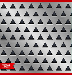 Triangle metal background design vector