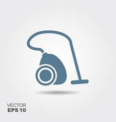 vacuum cleaner flat icon with shadow vector image