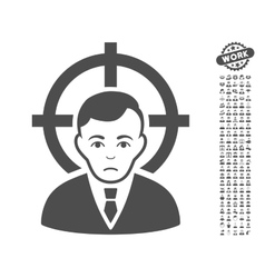 Victim Businessman Icon With Bonus vector