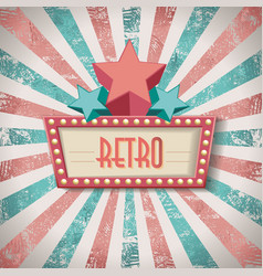 vintage faded background retro stripes or beams vector image