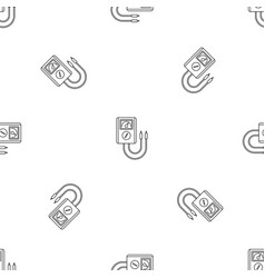 voltage device tool icon outline style vector image