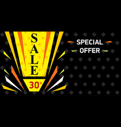 web sale banner sale discount up to 30 vector image
