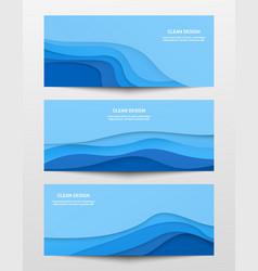 web trendy horizontal banners set vector image