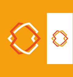 yellow orange white unique shape vector image