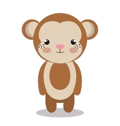 cute monkey isolated icon design vector image vector image