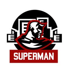 logo superman superhero costume cape town vector image vector image