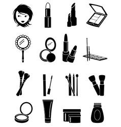 Makeup icons set vector image