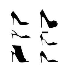 Shoes silhouettes icon vector image