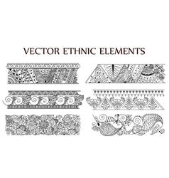 tattoo henna background set vector image