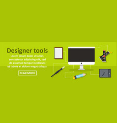 designer tools banner horizontal concept vector image