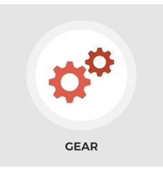 Gear Flat Icon vector image vector image