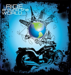 ride around the world vector image vector image