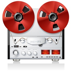 vintage hi-fi analog stereo reel to reel tape deck vector image vector image