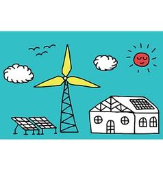 Alternative energy concept vector image