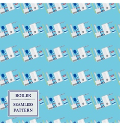 Boiler seamless pattern design vector image