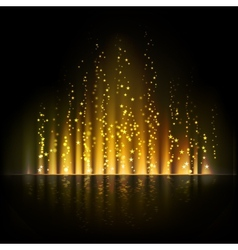 Gold aurora light Abstract backgrounds vector image