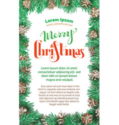 merry christmas vertical design vector image vector image
