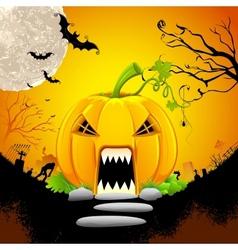Pumpkin Monster House vector image vector image