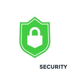 shield security icon vector image