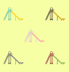 Childrens slide collection vector