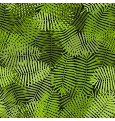 exotic green palm leaves seamless pattern vector image