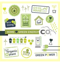 Green Energy recycle ecology icon design logo vector image vector image