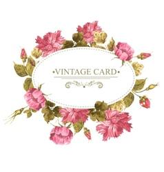 Vintage Greeting Card Watercolor vector image